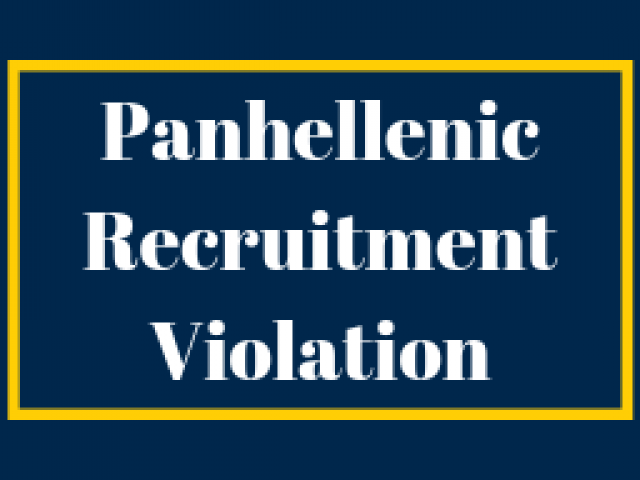 Panhellenic Recruitment Violation