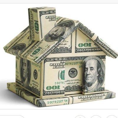 Graphic of a house bulit of money